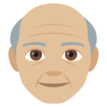 Old Man: Medium-Light Skin Tone on EmojiOne 4.5