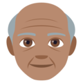 Old Man: Medium Skin Tone on JoyPixels 4.5