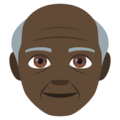 Old Man: Dark Skin Tone on EmojiOne 4.5