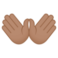 Open Hands: Medium Skin Tone on EmojiOne 4.5