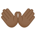 Open Hands: Medium-Dark Skin Tone on EmojiOne 4.5