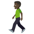 Person Walking: Dark Skin Tone on EmojiOne 4.5