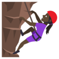 Person Climbing: Dark Skin Tone on JoyPixels 4.5