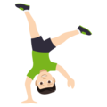 Person Cartwheeling: Light Skin Tone on EmojiOne 4.5