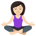 Person in Lotus Position: Light Skin Tone on JoyPixels 4.5