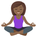 Person in Lotus Position: Medium-Dark Skin Tone on JoyPixels 4.5