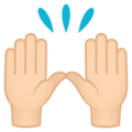 Raising Hands: Light Skin Tone on EmojiOne 4.5