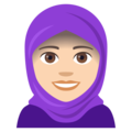 Woman With Headscarf: Light Skin Tone on JoyPixels 4.5