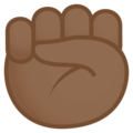Raised Fist: Medium-Dark Skin Tone on JoyPixels 4.5