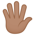 Hand With Fingers Splayed: Medium Skin Tone on JoyPixels 4.5