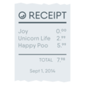 Receipt on EmojiOne 4.5
