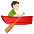 Person Rowing Boat: Light Skin Tone on JoyPixels 4.5