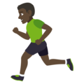 Person Running: Dark Skin Tone on JoyPixels 4.5