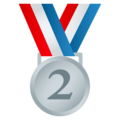 2nd Place Medal on EmojiOne 4.5