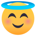 Smiling Face With Halo on EmojiOne 4.5