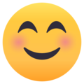 Smiling Face With Smiling Eyes on EmojiOne 4.5