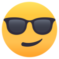 Smiling Face With Sunglasses on EmojiOne 4.5