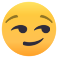 Smirking Face on EmojiOne 4.5