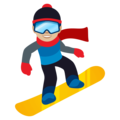 Snowboarder: Medium-Light Skin Tone on EmojiOne 4.5