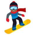 Snowboarder: Medium-Dark Skin Tone on JoyPixels 4.5