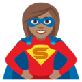 Superhero: Medium Skin Tone on JoyPixels 4.5