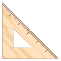 Triangular Ruler on EmojiOne 4.5