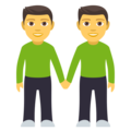 Men Holding Hands on JoyPixels 4.5