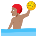 Person Playing Water Polo: Medium Skin Tone on EmojiOne 4.5