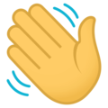 Waving Hand on EmojiOne 4.5