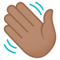 Waving Hand: Medium Skin Tone on EmojiOne 4.5