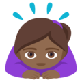 Woman Bowing: Medium-Dark Skin Tone on EmojiOne 4.5