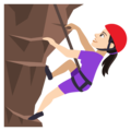 Woman Climbing: Light Skin Tone on JoyPixels 4.5