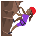 Woman Climbing: Medium-Dark Skin Tone on EmojiOne 4.5