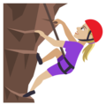 Woman Climbing: Medium-Light Skin Tone on JoyPixels 4.5