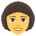 Woman: Curly Hair on JoyPixels 4.5