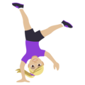 Woman Cartwheeling: Medium-Light Skin Tone on EmojiOne 4.5