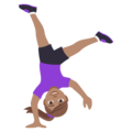 Woman Cartwheeling: Medium Skin Tone on EmojiOne 4.5