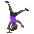 Woman Cartwheeling: Dark Skin Tone on JoyPixels 4.5