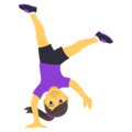 Woman Cartwheeling on JoyPixels 4.5