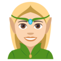Woman Elf: Light Skin Tone on EmojiOne 4.5