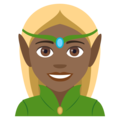 Woman Elf: Medium-Dark Skin Tone on EmojiOne 4.5