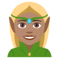 Woman Elf: Medium Skin Tone on EmojiOne 4.5