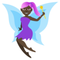 Woman Fairy: Dark Skin Tone on JoyPixels 4.5