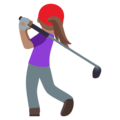 Woman Golfing: Medium Skin Tone on EmojiOne 4.5
