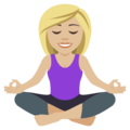 Woman in Lotus Position: Medium-Light Skin Tone on EmojiOne 4.5