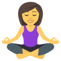 Woman in Lotus Position on JoyPixels 4.5