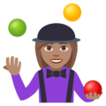 Woman Juggling: Medium Skin Tone on EmojiOne 4.5