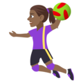 Woman Playing Handball: Medium-Dark Skin Tone on EmojiOne 4.5