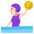 Woman Playing Water Polo: Light Skin Tone on JoyPixels 4.5