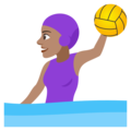 Woman Playing Water Polo: Medium Skin Tone on JoyPixels 4.5